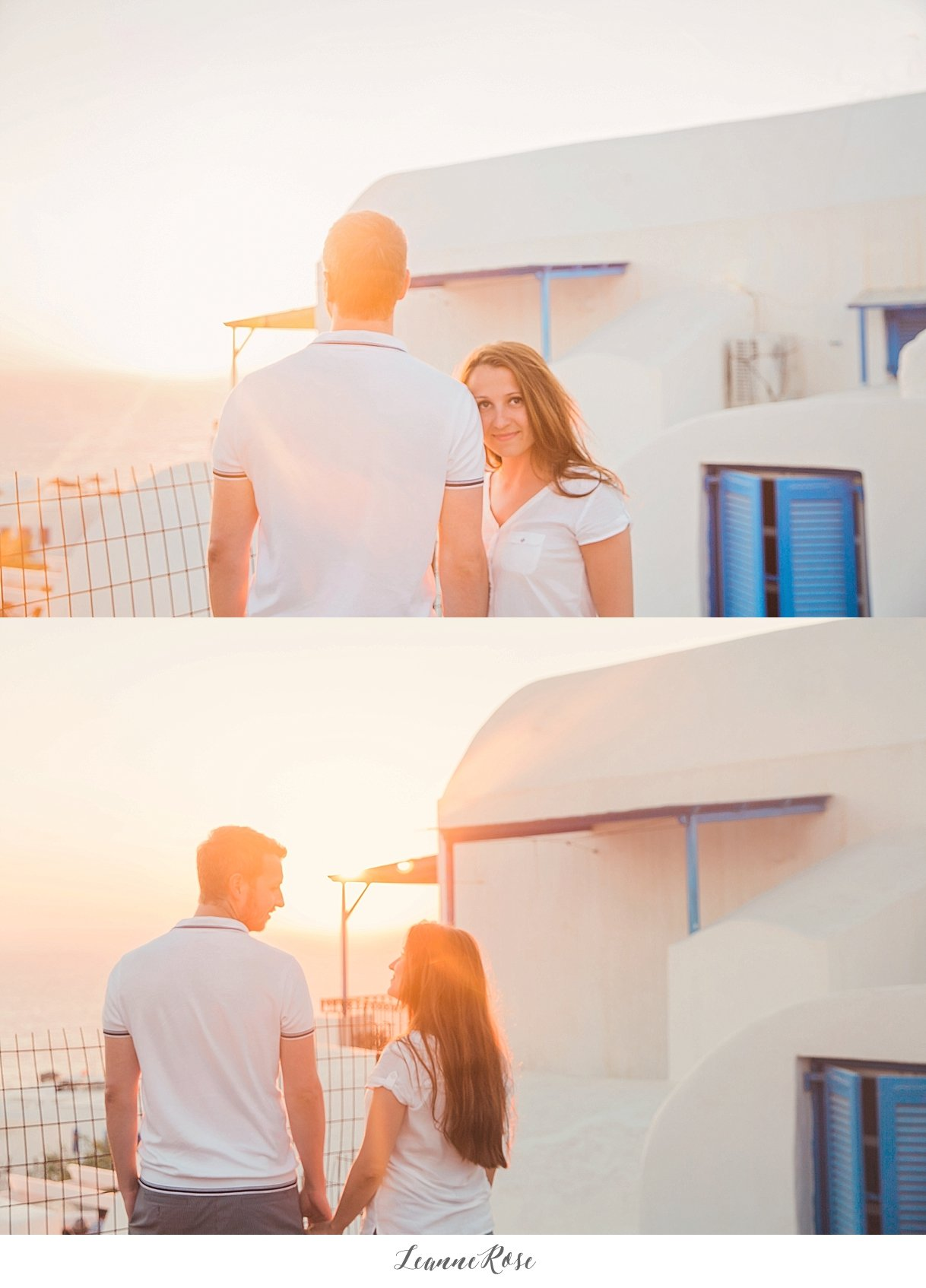 Santorini Greece Engagement Photography  Leanne Rose
