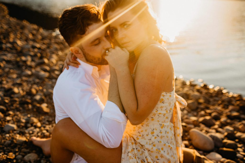 This engagement session was to die for. We had the perfect sunset and a perfect location among the mountains and pines.
