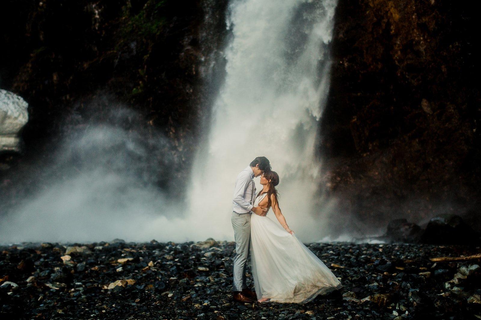 waterfall elopement inspiration